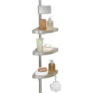 telescoping corner shower caddy with plastic shelves bed