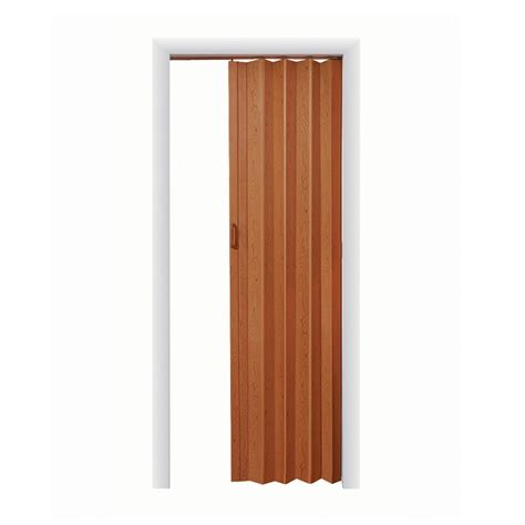 Fold Closet Doors Shop Spectrum Nutmeg Folding Closet Door Common 36 In X 80 In Actual 36 5 In X 78 75 In At