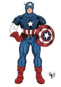 captain america colors captain america color by kaufee on deviantart