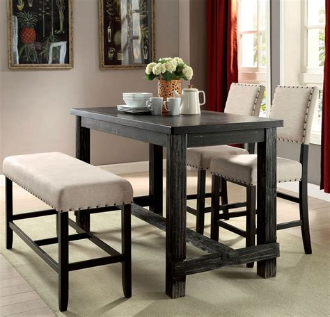 chesapeake ii dining room counter sania ii antique black counter height dining table from
