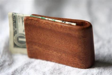 Handmade Money Clip - handmade mahogany wood money clip handmade money and