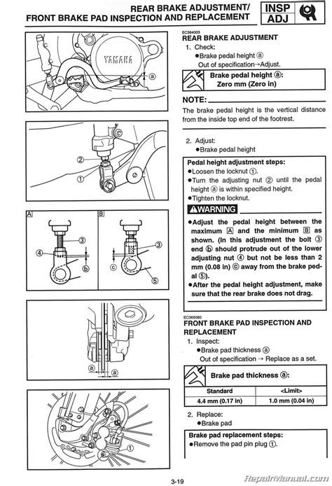 2002 Yamaha YZ125 Motorcycle Service Manual