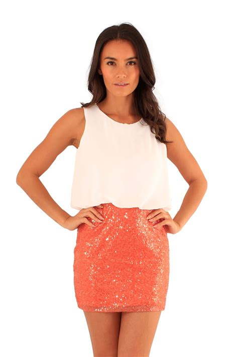 8 Top Dresses For Your by New Chiffon Key Top Glitter Sequins Skirt Two