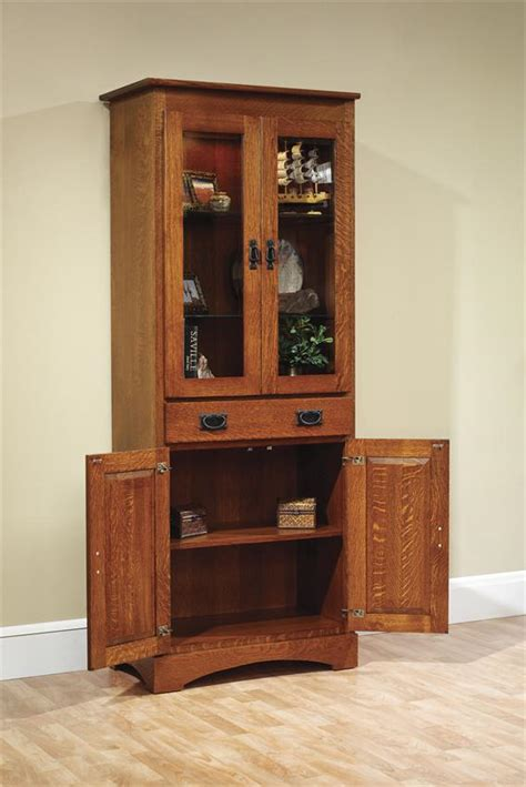 mission bookcase with doors old english mission 30 quot bookcase with doors from