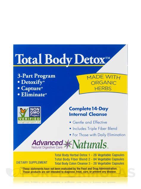 Advanced Naturals Detox by Total Detox 3 Part Kit