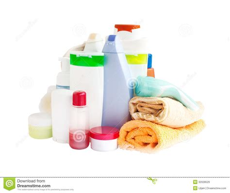 bathrooms products care and bathroom products stock image image of bottle