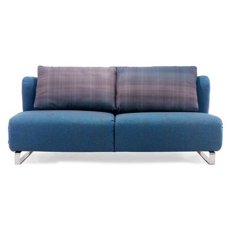 sofa bed blue shop zuo modern conic cowboy blue polyblend sofa bed at