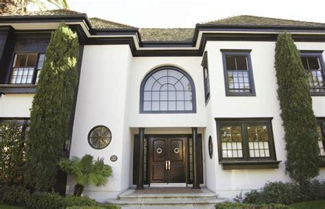 white stucco house stucco home style