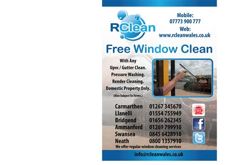 window cleaning templates free flyers arrived rclean wales window cleaners swansea