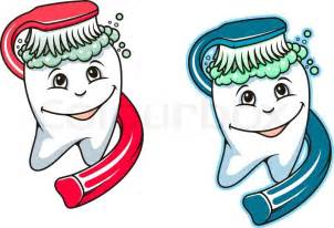 dental care and tooth hygiene stock vector colourbox