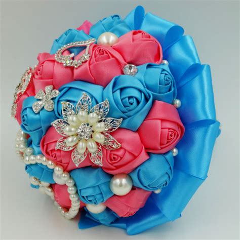 Where To Get Wedding Flowers by Get Cheap Turquoise Wedding Bouquets Aliexpress