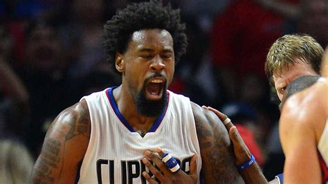 deandre jordan hair deandre jordan s iron man streak of 360 consecutive games
