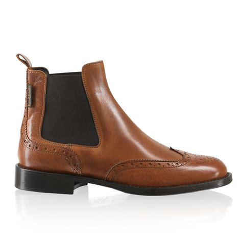 and bromley shoes cadogan brogue chelsea boot in leather bromley