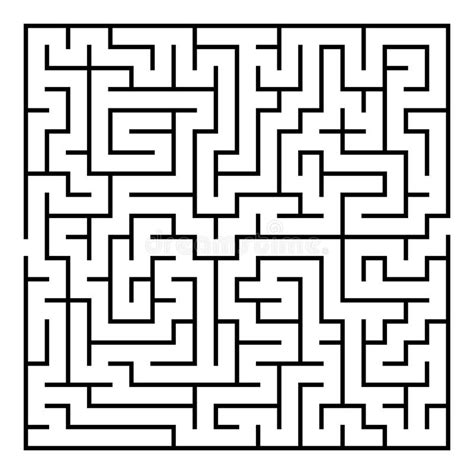 printable maze with multiple exits vector maze labyrinth with entry and exit stock vector
