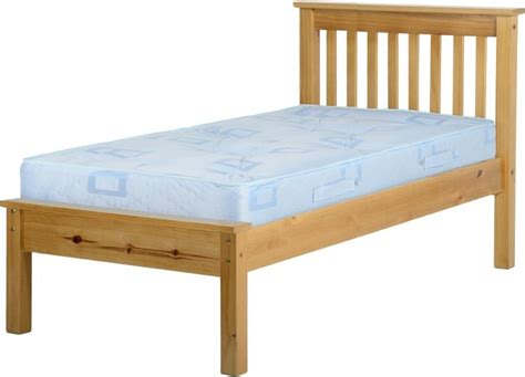 Low Single Bed With Mattress by Monaco Single Bed Low Pine Wooden Beds