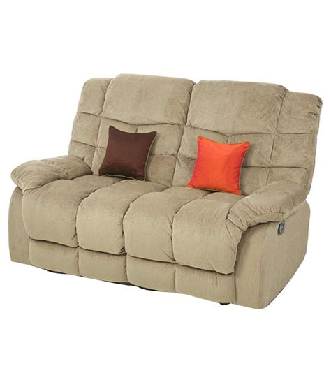 double seater recliner royaloak recliner double seater beige buy online at best