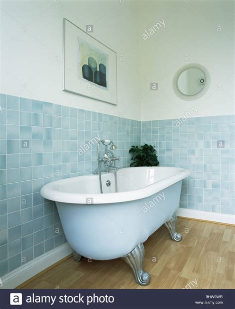 pale blue bathrooms pale blue roll top bath in modern bathroom with pastel