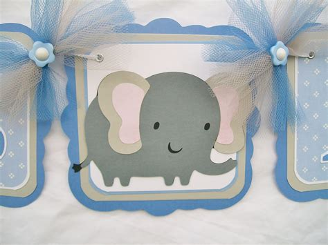 Elephant Baby Shower by Elephant Baby Shower Banner Blue Grey White Its A Boy