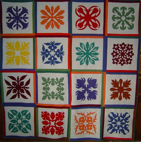 quilt blocks of hawaii complete set cross stitch quilt more hawaiian quilts honilima