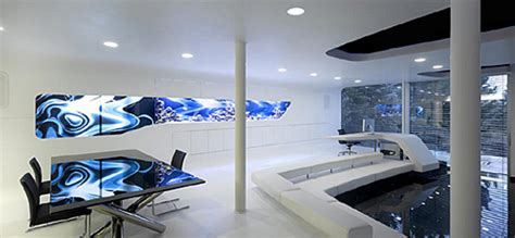 work it high style high tech home offices apartment therapy futuristic interior of it entrepreneur s home villa f by
