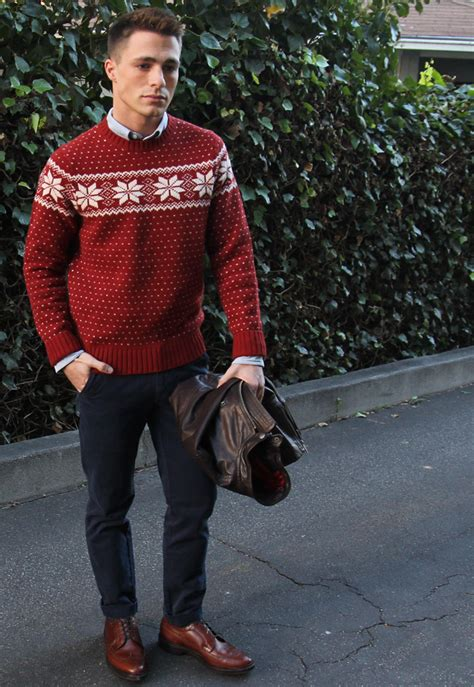 how to wear sweater to christmas party tkc profile colton haynes tomboy kc