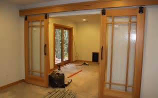Hanging Sliding Barn Doors Hanging Barn Doors Interior Home Design