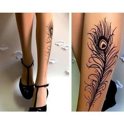 tattoo fixers peacock feather black peacock feather leg tattoo gotattooideas tattoos