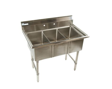 All Stainless 3 Compartment 15 X 15 Small Sink 53 1 4