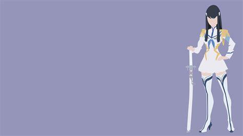 wallpaper anime minimalist mw kiryūin satsuki from kill la kill minimalist art