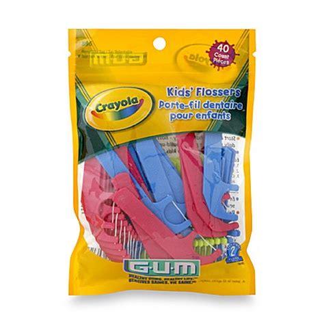 Dijamin Crayola Flossers Kid Floss buy gum 174 crayola 40 count flossers from bed bath beyond