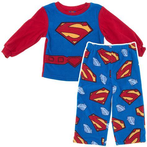 fleece pajamas for toddlers superman fleece pajamas for toddler boys superman