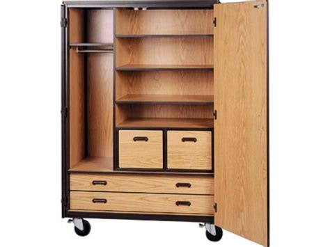 mobile wardrobe storage closet 3 shelves 4 drawers 72