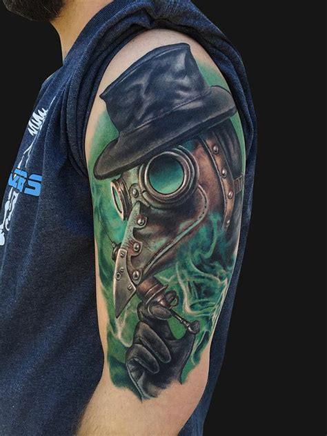 plague doctor tattoo by jamie lee parker tattoonow