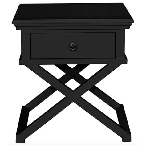 black bedroom side table sorrento cross leg side table black bedside tables