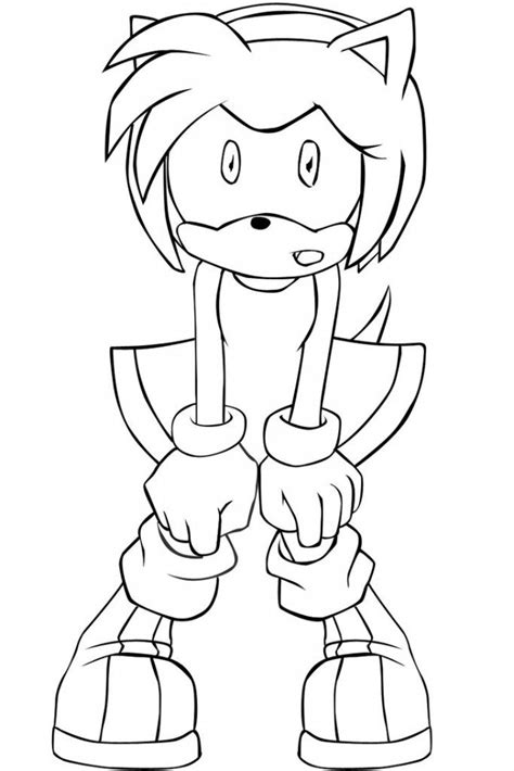 amy rose coloring pages coloring home