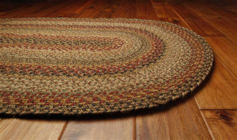 Homespice Decor Jute Braided Oval Red Area Rug   HOKINGSTONOVA