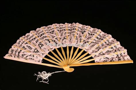 custom made hand fans handmade battenburg lace back lined hand fans ebay