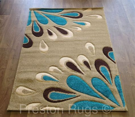 Small Teal Rug by Details About Rug Modern Floral Beige Teal Blue Brown