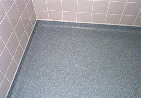 Flooring specifications, Wet room flooring, coved vinyl