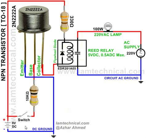 transistor bjt wiki to 18 package type bjt transistor 2n2222a switching reed relay edr201a05 iamtechnical