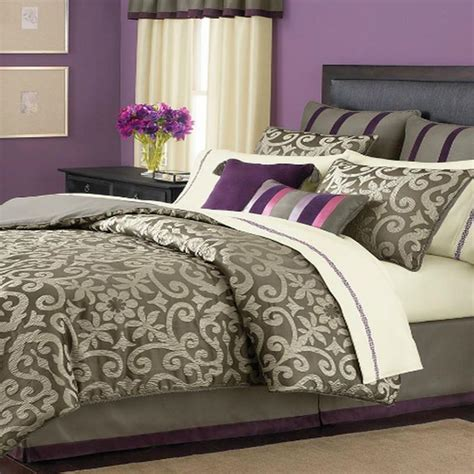 martha stewart brownstone damask queen 24 piece comforter