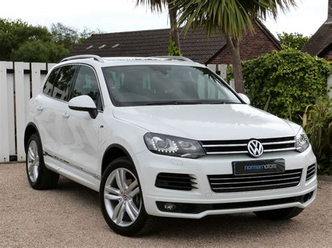volkswagen touareg white used pure white vw touareg for sale dorset