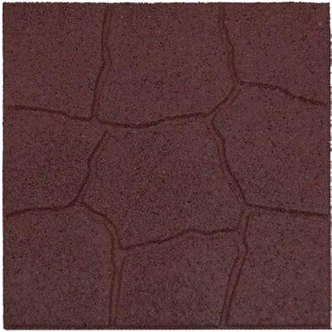 envirotile 18 in x 18 in flagstone terra cotta rubber