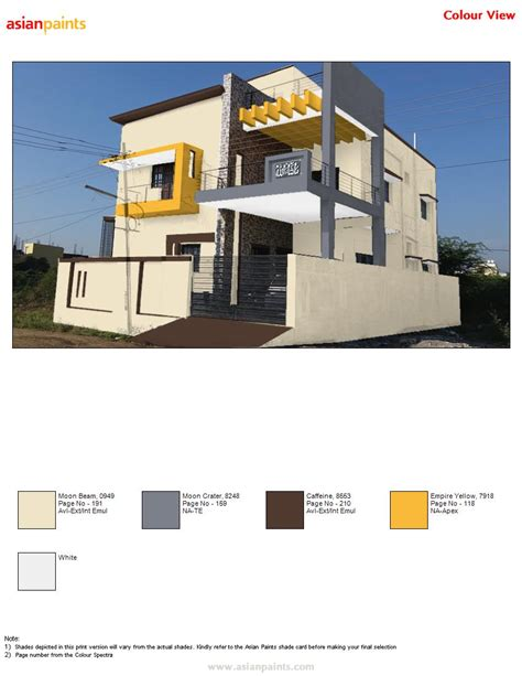 asian paints exterior colour combinations exterior colour combinations