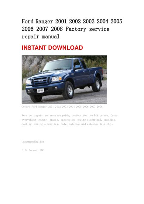 small engine repair training 2003 ford ranger user handbook ford ranger 2001 2002 2003 2004 2005 2006 2007 2008 manual