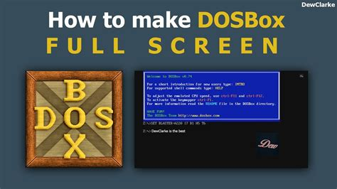 how to watch youtube videos in full screen within browser window how to make dosbox full screen youtube