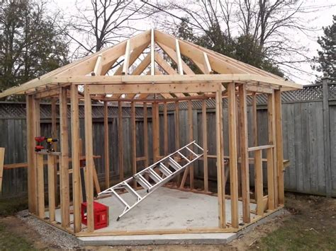Plans For Garden Sheds by Five Sided Shed Youtube