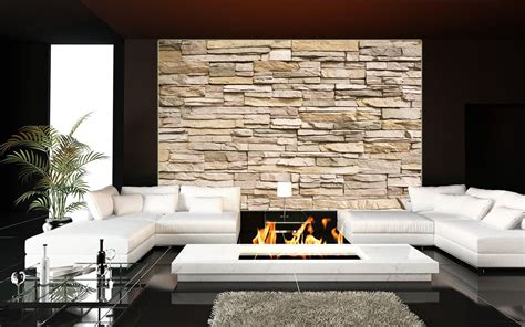 steinwand schlafzimmer steinmauer wanddekoration wohnzimmer steinwand beige