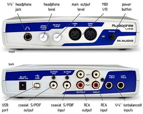 sound m audio s audiophile usb dual channel 24 bit