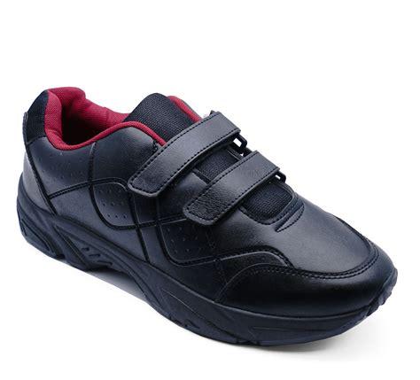 mens comfort shoes uk mens black casual comfort easy wide fit trainers plimsolls